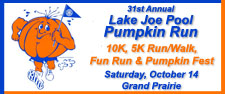 31st Annual Lake Joe Pool Pumpkin Run