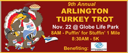 9th Annual ARLINGTON TURKEY TROT
