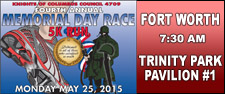 Knights of Columbus 4th Annual Memorial Day Run