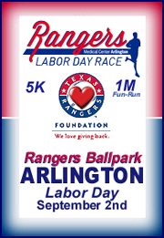 TEXAS RANGERS Labor Day Race 5K & 1M Fun Run